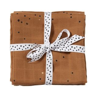 Done By Deer Burp Cloth 2-pack Dreamy Dots/Mustard