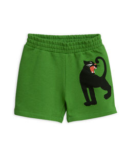 Mini Rodini SS19 Panther Sweatshorts Green