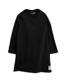 Mini Rodini AW19 Basic Ls Dress Black