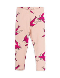 Mini Rodini SS18 Swallows leggings pink
