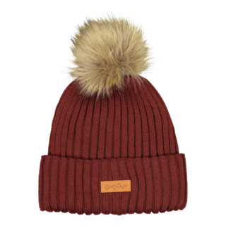 Gugguu AW19 Furry Beanie Bark Brown