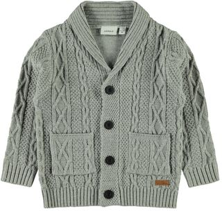 Name It NMMRalthe Ls Knit Card Grey Melange