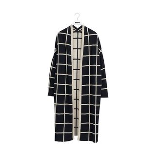 Papu AW19 Knit Long Cardigan Black/Cream Melange