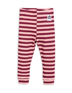 Mini Rodini SS18 Stripe Rib Leggins Pink