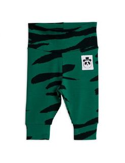 Mini Rodini SS20 Tiger NB Leggings Green