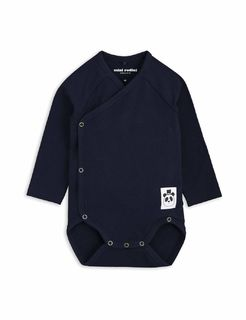 Mini Rodini SS18 Basic Wrap Body Navy