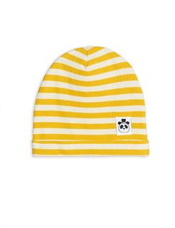 Mini Rodini SS20 Stripe Rib Beanie Yellow