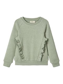 Lil' Atelier Goldie LS Sweat Iceberg Green