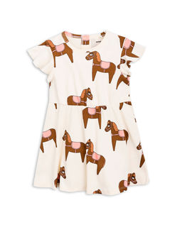 Mini Rodini SS18 Horse Dress Pink