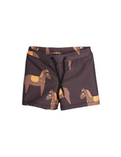 Mini Rodini SS18 Horse Swimpants Brown
