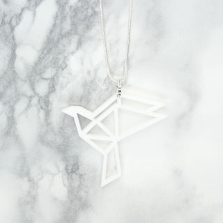 Yo Zen Dove Mini Pendant White