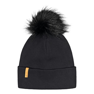 Metsola AW20 RIB Beanie With Fur Pipo All Black