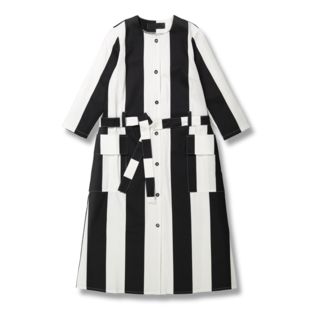 Vimma Lilja Stripes Dress Black White