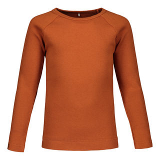 Metsola AW19 Basic T-shirt Ls Rib Roasted Pecan