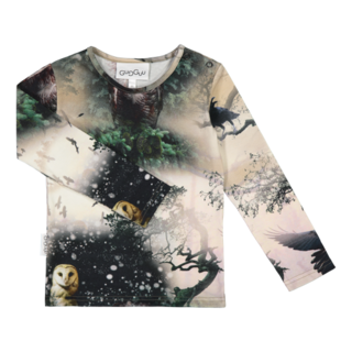 Gugguu AW19 Print Shirt Night Forest