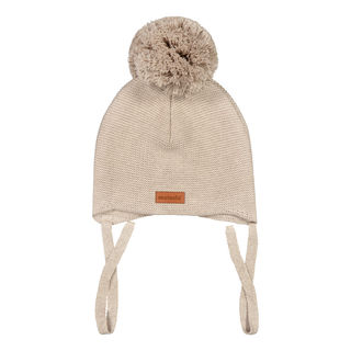 Metsola SS20 Cotton Knitted Baby Beanie 1 Pom Pom Bombay