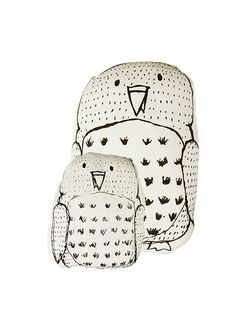 AARREKID Big Owl Pillow White