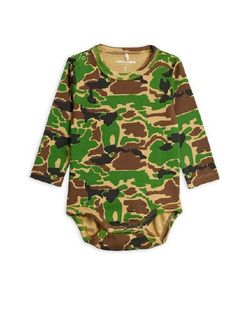 Mini Rodini AW19 Camo Ls Body Green