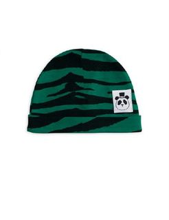 Mini Rodini SS20 Tiger Baby Beanie Green