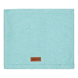 Metsola SS20 Cotton Knitted Classic Tube Scarf Fairy Aqua