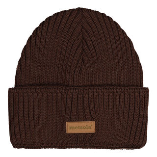 METSOLA AW18 Knitted Beanie Rib Folded Coffe