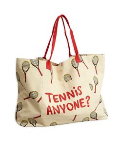 Mini Rodini SS20 Tennis Adult Bag Offwhite