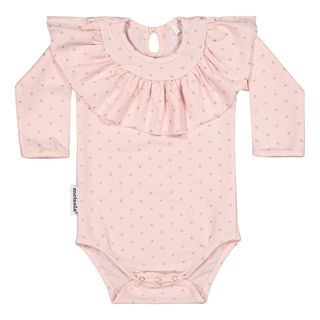 Metsola AW19 Frilla Body Ls Dots Pink Gold