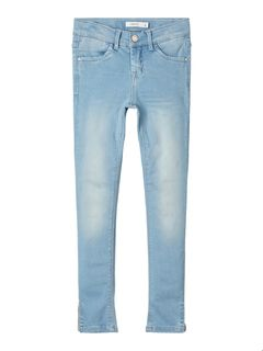 Name It Nkfpolly Dnmtia 1319 Ancle Pant Noos Light Blue Denim