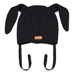 Metsola SS20 Cotton Knitted Baby Bunny Beanie Black