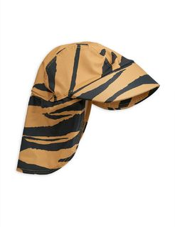 Mini Rodini SS20 Tiger Aop Swim Cap Brown