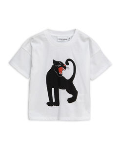 Mini Rodini SS19 Panther SS T-Shirt White