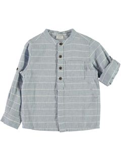 Name It Nmmfaksa LS Shirt Box Cashmere Blue-Paita