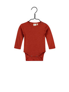Mainio AW20 Merino Wool Bodysuit Paprika Body