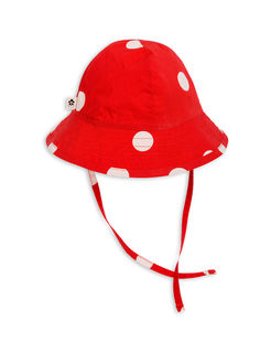 Mini Rodini SS18 Dot Sun Hat Red