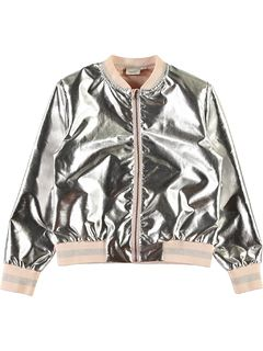 Name It Nkfhanna Ls Bomber Jacket Silver Colour