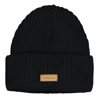 METSOLA AW18 Knitted Beanie Rib Folded Black