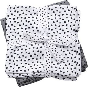 Done By Deer Swaddle Happy Dots Grey - Harsosetti
