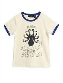 Mini Rodini AW20 Octopus SS Tee Blue
