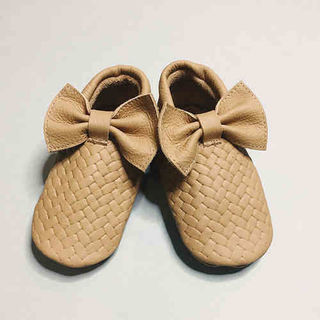 For Minis And Mommies Braids Light Brown Moccasins