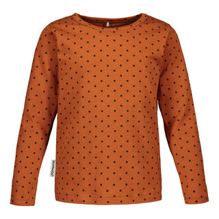 Metsola AW19 Dots T-Shirt LS Rosted Pecan