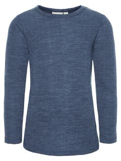 Name It Nmmwang Wool Needle Ls Top Noos Ensign Blue Merinovillapaita