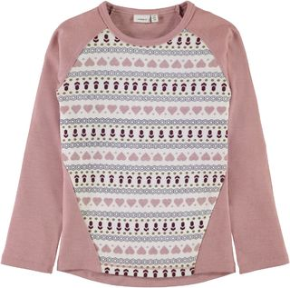 Name It Nkfwillto Wool LS Top Noos Woodrose
