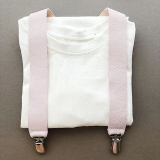 For Minis And Mommies Suspenders Pale Rose
