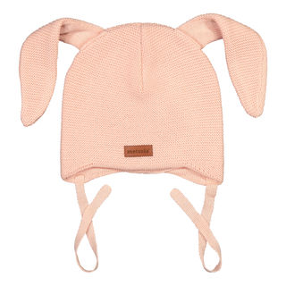 Metsola AW19 Knitted Bunny Beanie Rose Smoke