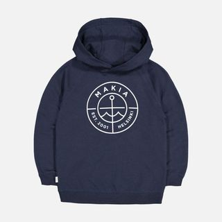 Makia Scope Hooded Sweatshirt Dark Blue