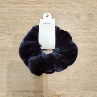 Name It Nkfacc-Softia Fur Scrunchie Dark Sapphire