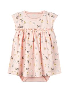 Name It Nbfdaisy Ange Ss Dress Wdi Strawberry Cream