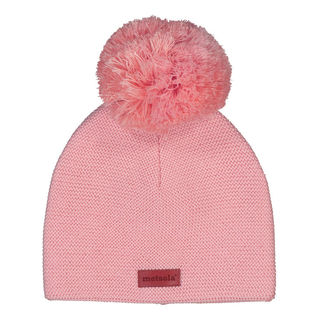 Metsola SS20 Cotton Knitted Classic Beanie 1 Pom Pom Powder Puff