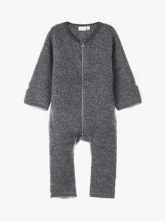Name It NBMWmino Wool Bru Ls Suit XIX Dark Grey Melange