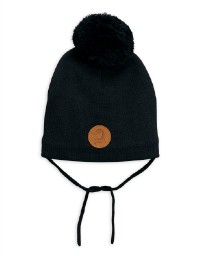 Mini Rodini AW19 Penguin Hat Black
